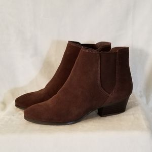 Vince Camuto Corter Brown Suede Booties